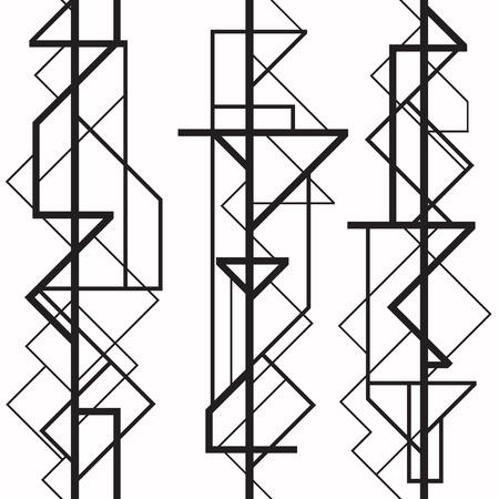 line art: Patr?n geom?trico sin fisuras Vectores