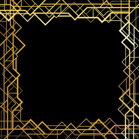Vector frame in art deco style Illusztráció