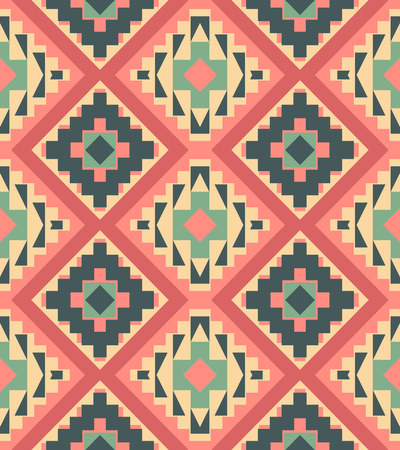 pattern vector: Seamless colorful ethnic pattern, vector illustration