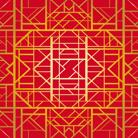 30s: Seamless pattern in art deco style