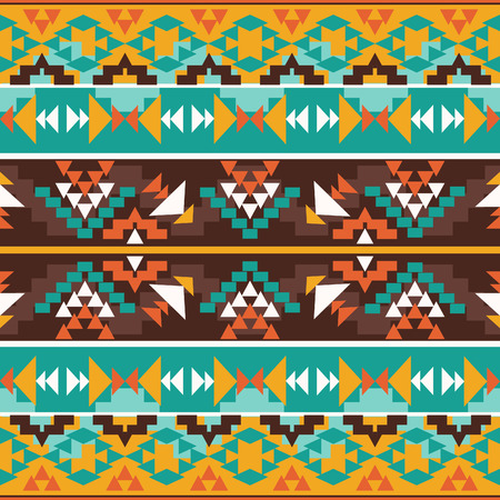 tribal art: Seamless colorful ethnic pattern, vector illustration