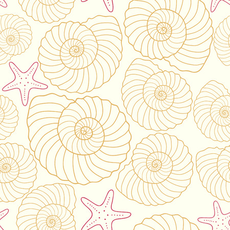 cockle: Seamless sea pattern, vector