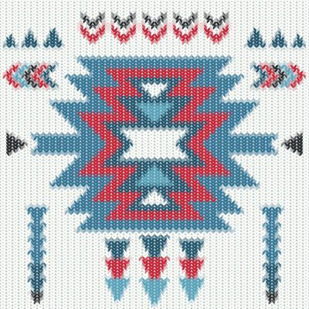 navajo: Knitted navajo pattern.