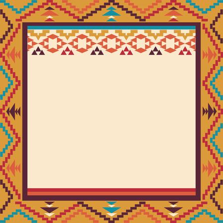 navajo: Colorful border in navajo style