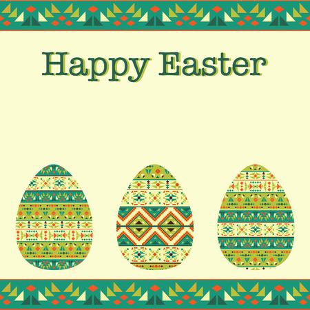 Modern Easter background, happy Easter card Ilustração