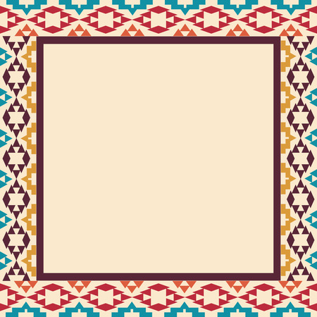 national borders: Colorful border in navajo style