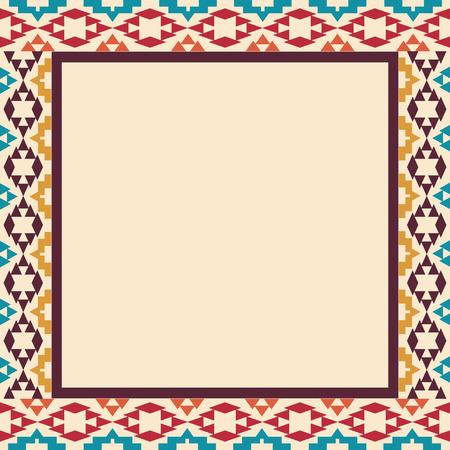 Colorful border in navajo style