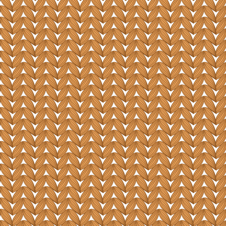 winter wheat: Seamless knitted pattern. Illustration
