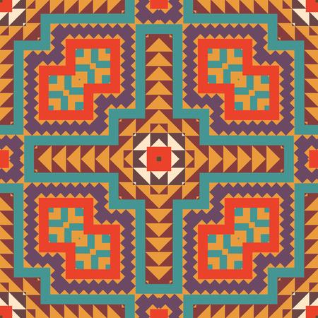 navajo: Seamless colorful navajo pattern Illustration