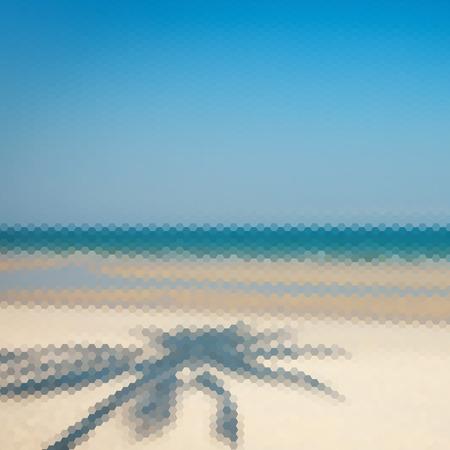 triangular: Abstract beach triangular pattern