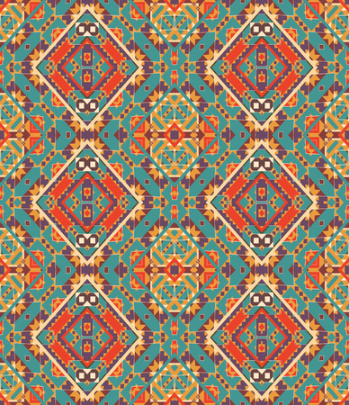 Seamless colorful navajo pattern 일러스트