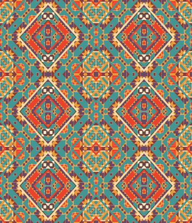 Seamless colorful navajo pattern Ilustração
