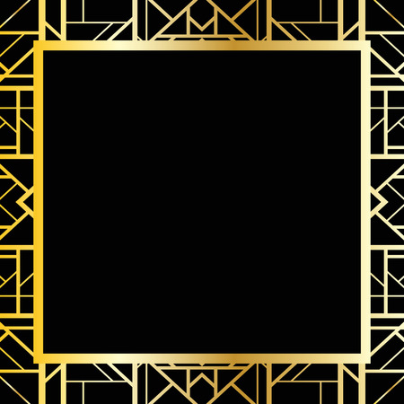 art deco: Art deco geometric frame (1920s style)
