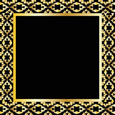 retro: Art deco geometric frame (1920s style)