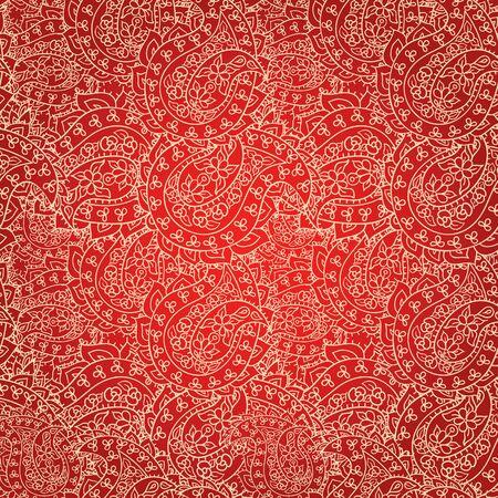 patten: Hand drawn lace patten, seamless wallpaper Illustration