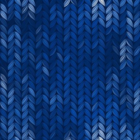 Winter knitted pattern. Illustration