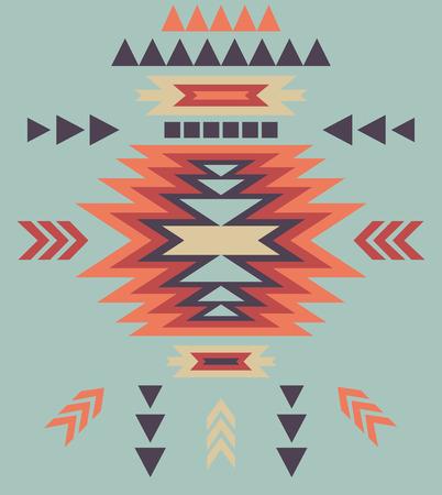 cherokee: Colorful decorative ethnic pattern Illustration