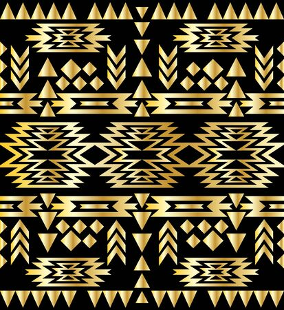30s: Seamless aztec pattern art deco style