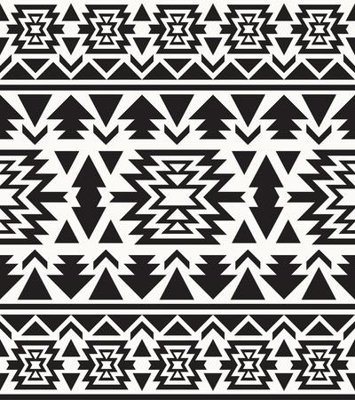 navajo: Seamless black and white navajo pattern