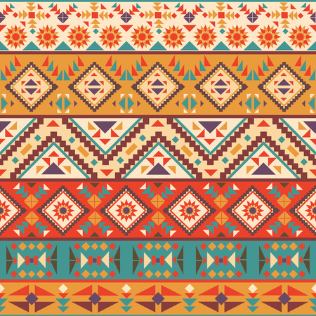 Seamless colorful navajo pattern Illustration