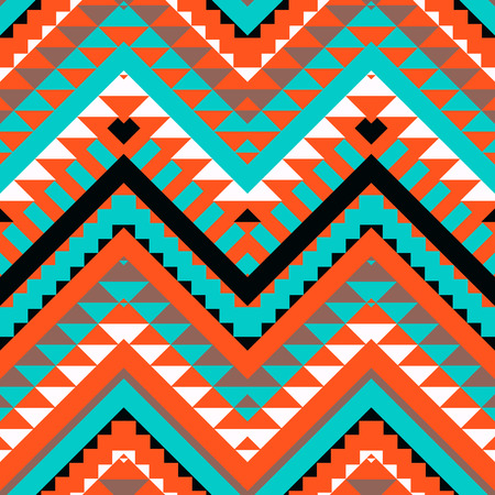 zig: Seamless colorful navajo pattern Illustration