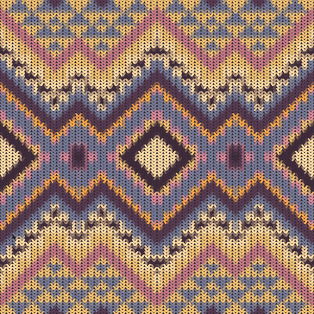 navajo: Seamless knitted navajo pattern. Illustration