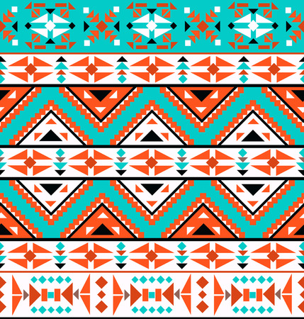 aztec: Seamless colorful navajo pattern Illustration