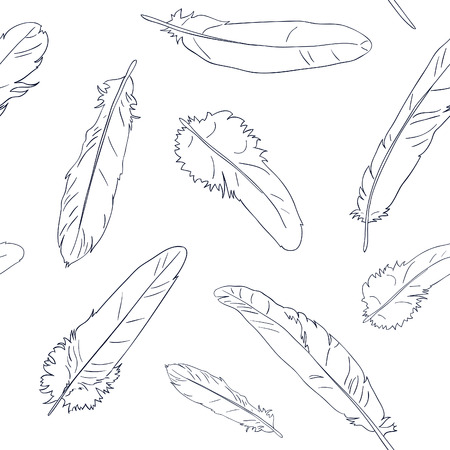 wind down: Seamless Feather Pattern Illustration