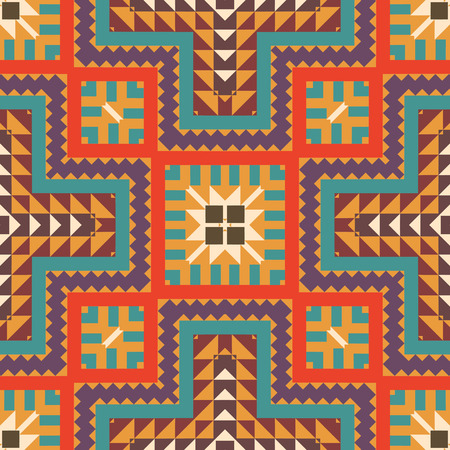 Seamless colorful navajo pattern  イラスト・ベクター素材
