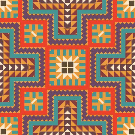 Seamless colorful navajo pattern Stock Illustratie