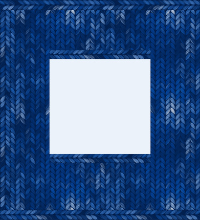 knitted: Abstract knitted frame, vector illustration Illustration