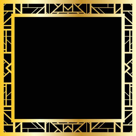 Art deco geometric frame (1920s style)