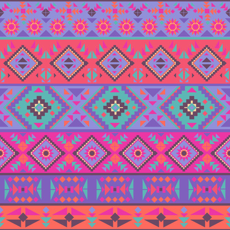 native: Abstract seamless ethnic geometric pattern, vector illustration