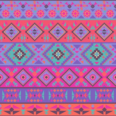 native american art: Abstract seamless ethnic geometric pattern, vector illustration