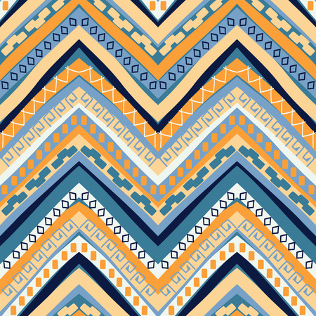 Abstract seamless ethnic geometric pattern, vector illustration