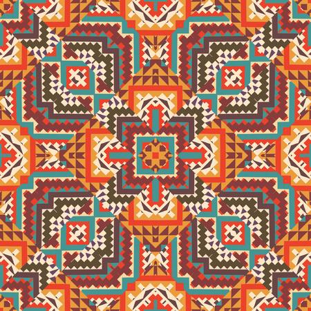 indische muster: Abstrakte nahtlose ethnischen geometrischen Muster, Vektor-Illustration