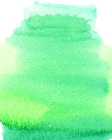 green ink: Abstract watercolor splash. Watercolor background. Vector illustration. Illustration