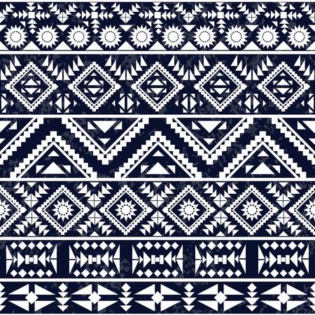native american art: Seamless black and white ethnic pattern, vector illustration Illustration