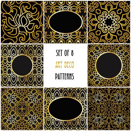 8 art deco floral patterns
