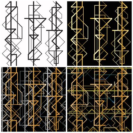 4 art deco geometric patterns