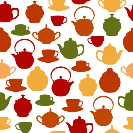 Tea seamless pattern Иллюстрация