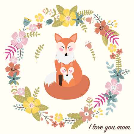 I love you mom. Greeting card for mothers day.