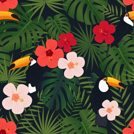 Tropical seamless textile pattern