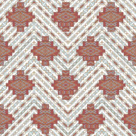 Ethnic geometric seamless textile pattern