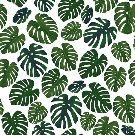 Tropical leaves seamless textile pattern