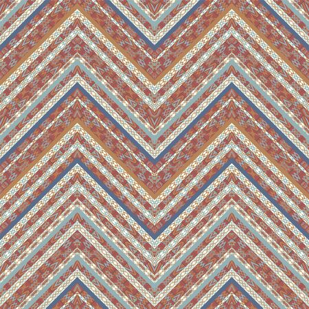 Ethnic geometric seamless textile pattern Ilustración de vector