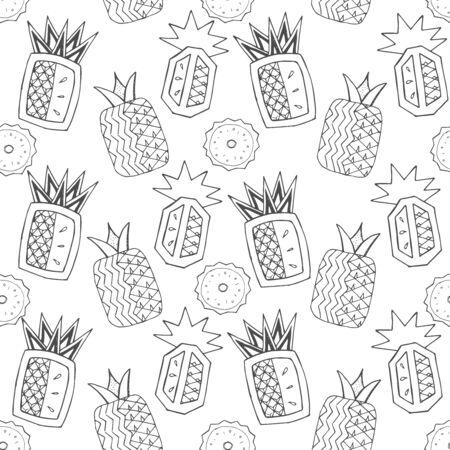 Tropical pineapple seamless pattern