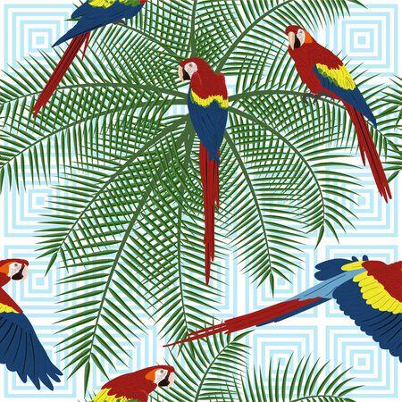 Tropical seamless pattern Ilustração