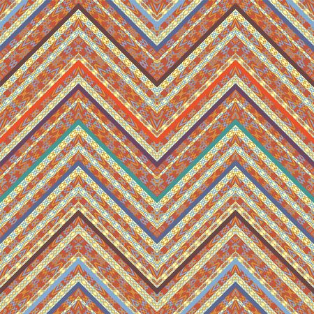 Ethnic geometric seamless pattern Ilustração