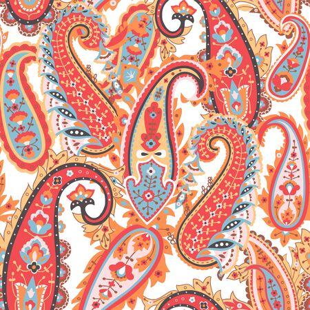 Abstract paisley background, textile print. Ilustração